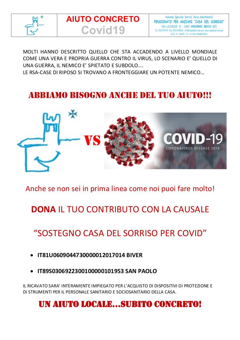 raccolta fondi covid19